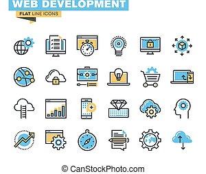 développement, icônes toile