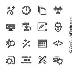 développement, icônes