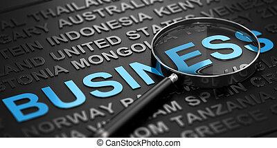 développement, international, concept, business