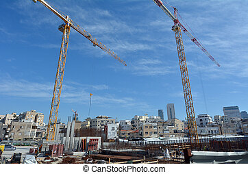 développement, israël, appartement, aviv téléphone, luxe