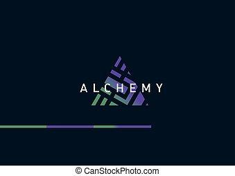 Développement,  logo, alchimie, géométrique