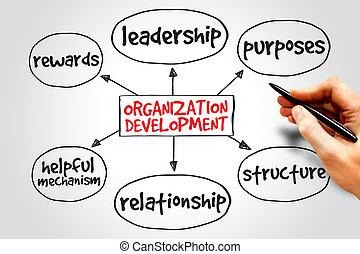 développement, organisation