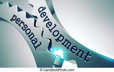 développement, personnel, concept, -, gears.