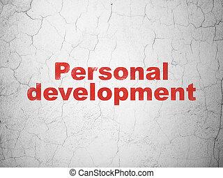 développement, personnel, mur, fond, education, concept: