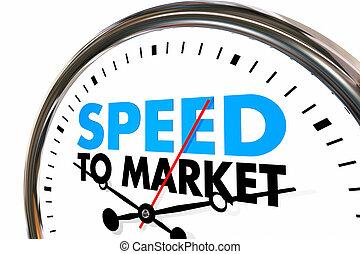 développement, produit, compteur vitesse, illustration, ...