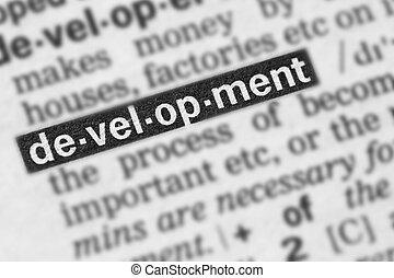 développement, texte, mot