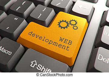 développement, toile, button., clavier