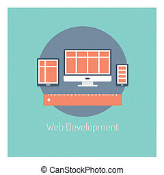 développement, toile, concept, illustration
