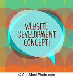 développement, toile, concept, photo, business, développer, pile, texte, concept., site internet, overlapping., site web, parole, vide, mot, cercle, écriture, bulle, transparent