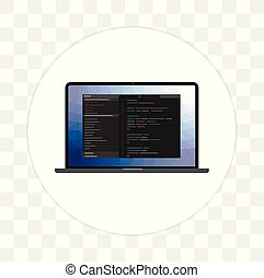 développement, toile, icon., langage programmation