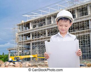 développer, concept, -, li, construction, architecture,...