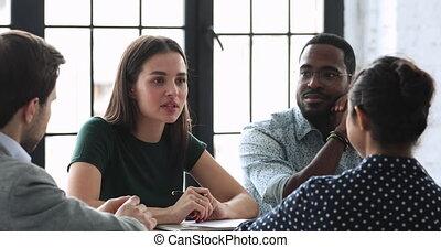 développer, divers, millennial, employés, strategy., habile, commercialisation, démarrage
