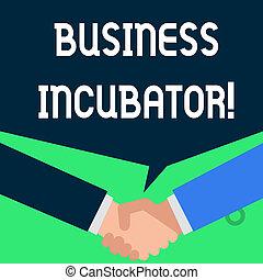 développer, professionnels, photo, compagnie, chaque, démarrage, conversation, saluer, incubator., note, sociétés, autre, aides, avoir, secousse, showcasing, nouveau, écriture, projection, hands.