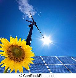 dê energia corda, windra, alternativa, poder