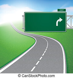 dê estrada corda, com, sinal estrada