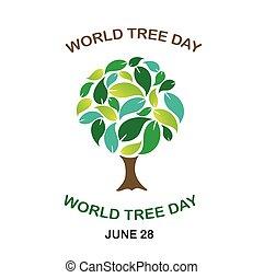 día, árbol, junio, mundo, 28
