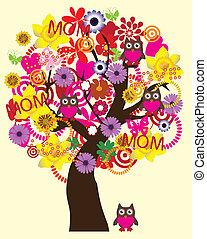 día árbol, madre