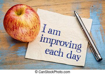 día, cada, mejorar