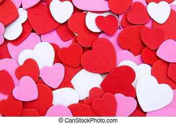 día, confeti, valentines, plano de fondo
