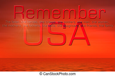 día conmemorativo, estados unidos de américa