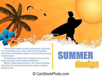 día de fiesta de verano, plano de fondo