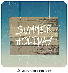 día de fiesta de verano, poster., vector