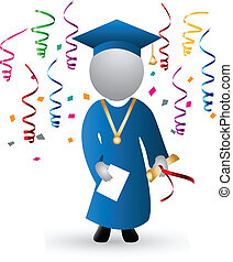 día de graduación, y, celebración