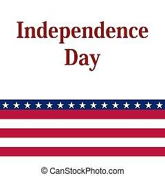 día de independencia, en, los estados unidos, de, america.