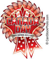 día de la independencia de canadá, escarapela