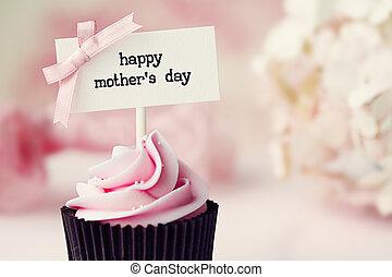 día de la madre, cupcake