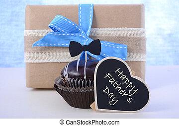 día de padres, cupcake, gift.