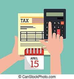 día de paga, impuestos, gráfico