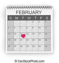 día de valentín, calendario