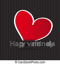 día de valentín, tarjeta de felicitación
