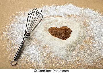 día de valentines, corazón, de, músculo, azúcar