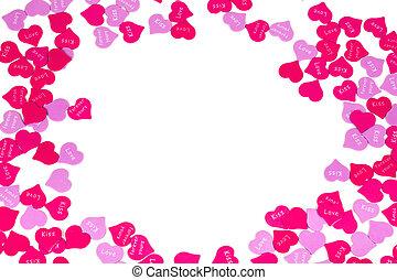 día de valentines, corazón del caramelo