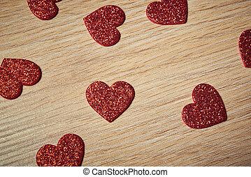 día de valentines, corazón rojo
