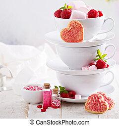 día de valentines, dulces, concepto