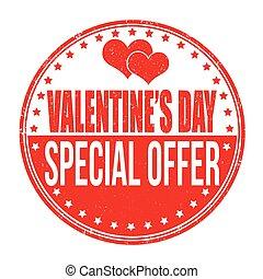 día de valentines, especial, oferta, estampilla