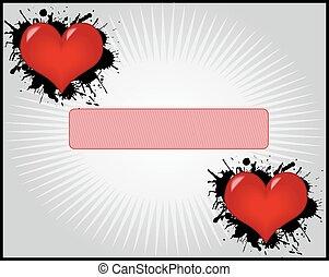 día de valentines, -, marco, con, corazones