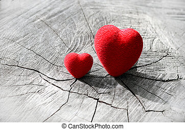 día de valentines, plano de fondo, con, hearts.