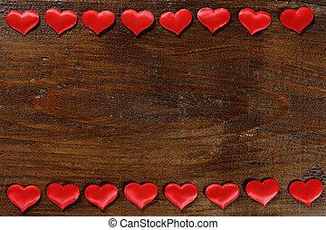día de valentines, plano de fondo, con, rojo, corazones