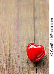día de valentines, plano de fondo, con, rojo, hearts.