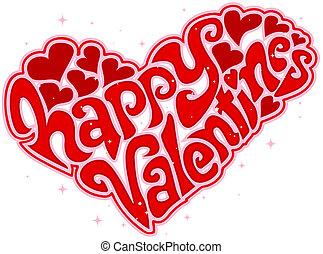 día de valentines, texto, diseño