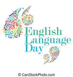 día, idioma, inglés