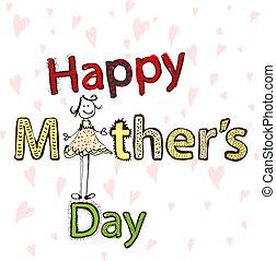día, ilustración, madres