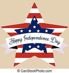 día, independencia, feliz