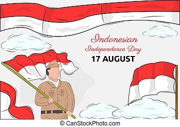 día, indonesio, independencia