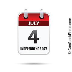 día, julio, 4, calandria, independencia