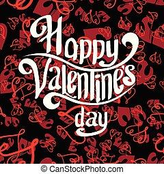 día, letras, tarjeta, plano de fondo, seamless, black-red, saludo, valentines